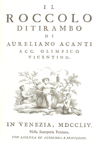 Il Roccolo Ditirambo wine history